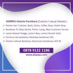 Dopayu Kitchen Set Tuban Bojonegoro Lamongan Gresik Surabaya Sidoarjo, WA 0878 9122 1186