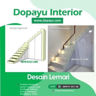 Desain Lemari Pakaian Tuban Sidoarjo Surabaya dopayu.com, WA 0878 9122 1186, Lemari HPL Dapur Minimalis